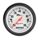 "AutoMeter - 2-5/8"" TACHOMETER, 0-8,000 RPM, WHITE W/ BLACK BEZEL, PRO-CYCLE (19325)"