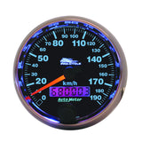 "AutoMeter - 2-5/8"" SPEEDOMETER, 0-190 KM/H, BLACK, PRO-CYCLE (19340-M)"