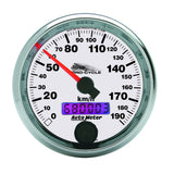 "AutoMeter - 2-5/8"" SPEEDOMETER, 0-190 KM/H, WHITE, PRO-CYCLE (19341-M)"