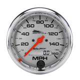 "AutoMeter - 3-3/4"" SPEEDOMETER, 0-160 MPH, ELECTRIC, SILVER, PRO-CYCLE (19356)"