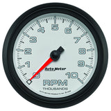 "AutoMeter - 3-3/8"" TACHOMETER, 0-10,000 RPM, WHITE/BLACK, PRO-CYCLE (19598)"
