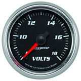 "AutoMeter - 2-1/16"" VOLTMETER, 8-18V, DIGITAL STEPPER MOTOR, BLACK/BRIGHT ANODIZED, PRO-CYCLE (19692)"
