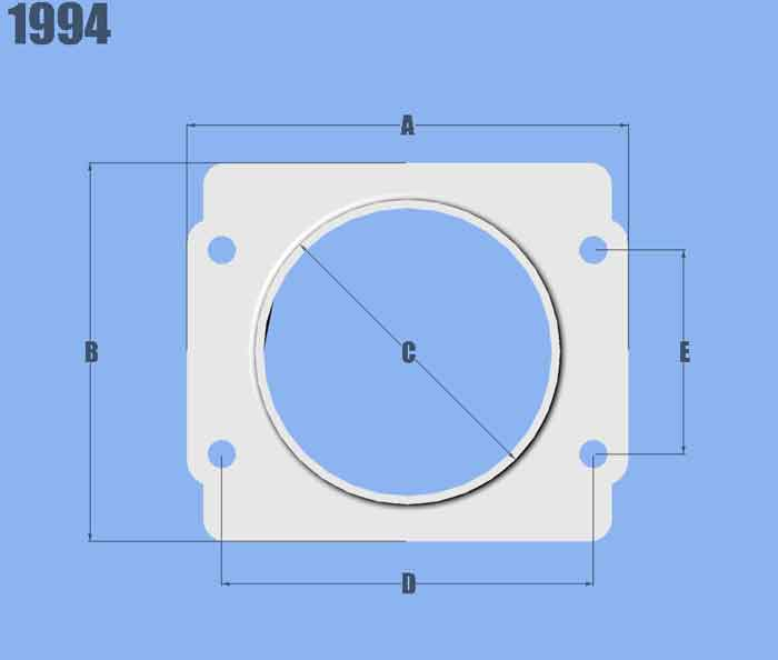 Vibrant Performance-Mass Air Flow Sensor Adapter Plate, for Subaru Applications
