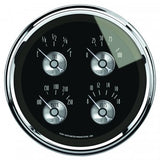 "AutoMeter - 5"" QUAD GAUGE, 100 PSI/100-250 °F/8-18V/240-33 Ω, PRESTIGE BLACK DIAMOND (2011)"