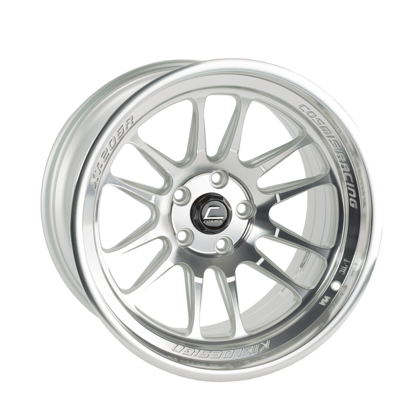 Cosmis Racing XT-206R Silver w/ Machined Face + Lip 18x11 8mm 5x114.3