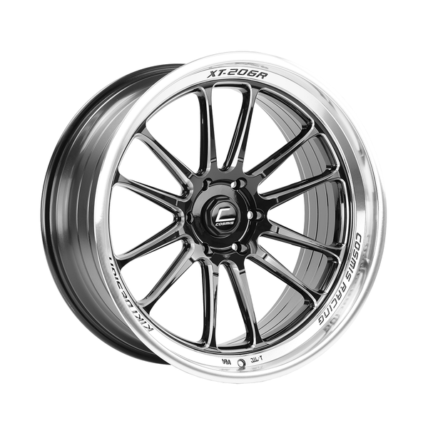 Cosmis Racing XT-206R Black w/ Machined Lip + Spokes Wheel 22x10 +0mm 6ÌÎÌÔ139.7