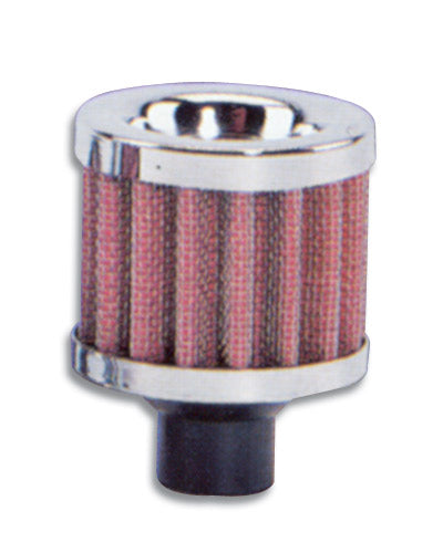 Vibrant Performance-Crankcase Breather Filter w/ Chrome Cap, 1/2