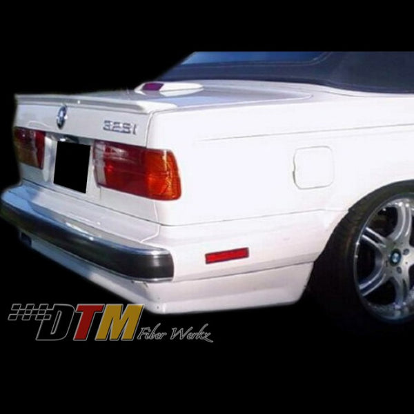 DTM Fiberwerkz - BMW E30 ES Rear Apron for (Metal/Diving Bumper)