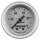 "AutoMeter - 2-1/16"" OIL PRESSURE, 0-100 PSI, MECHANICAL, SILVER, AUTO GAGE (2334)"