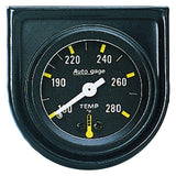 "AutoMeter - 1-1/2"" WATER TEMPERATURE, 100-280 °F, 6 FT., MECHANICAL, SHORT SWEEP, AUTO GAGE (2352)"
