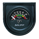 "AutoMeter - 1-1/2"" OIL PRESSURE, 0-100 PSI, AIR-CORE, SHORT SWEEP, AUTO GAGE  (2354)"