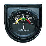 "AutoMeter - 1-1/2"" WATER TEMPERATURE, 100-280 °F, AIR-CORE, SHORT SWEEP, AUTO GAGE (2355)"