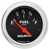 "AutoMeter - 2-1/16"" FUEL LEVEL, 240-33 Ω, AIR-CORE, AMP, SSE (2516)"