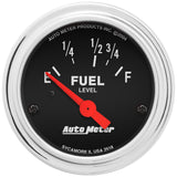 "AutoMeter - 2-1/16"" FUEL LEVEL, 16-158 Ω, AIR-CORE, TRAD. CHROME (2518)"
