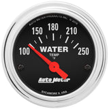 "AutoMeter - 2-1/16"" WATER TEMPERATURE, 100-250 °F, AIR-CORE, TRADITIONAL CHROME (2532)"