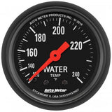 "AutoMeter - 2-1/16"" WATER TEMPERATURE, 120-240 °F, 6 FT., MECHANICAL, Z-SERIES (2607)"