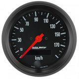 "AutoMeter - 3-3/8"" SPEEDOMETER, 0-190 KM/H, ELECTRIC, Z-SERIES (2687-M)"