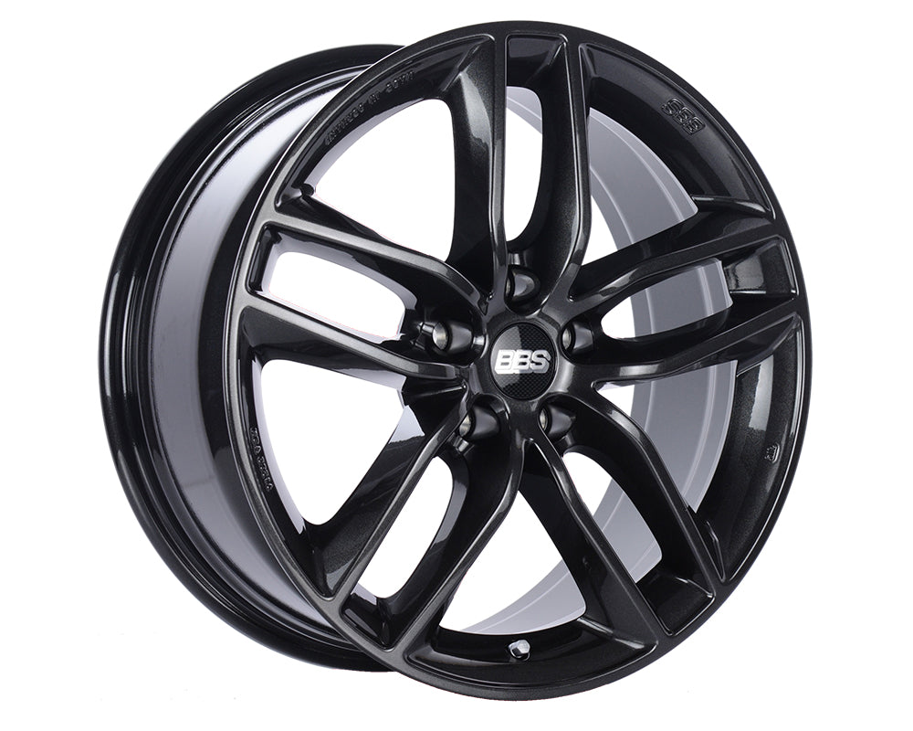 BBS - SX 19x8.5 5x112 46mm Crystal Black Metallic, clear protective top coat. (SX0502CB)