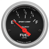 "AutoMeter - 2-1/16"" FUEL LEVEL, 0-90 Ω, AIR-CORE, SSE, SPORT-COMP (3314)"