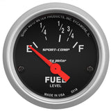 "AutoMeter - 2-1/16"" FUEL LEVEL, 16-158 Ω, AIR-CORE, SPORT-COMP (3318)"