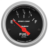 "AutoMeter - 2-1/16"" FUEL LEVEL, 73-10 Ω, AIR-CORE, LINEAR, SPORT-COMP (3319)"
