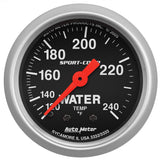 "AutoMeter - 2-1/16"" WATER TEMPERATURE, 120-240 °F, 6 FT., MECHANICAL, SPORT-COMP (3332)"