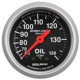 "Auto Meter - 2-1/16"" OIL TEMPERATURE, 60-140 °C, 6 FT., MECHANICAL,, SPORT-COMP (3341-M)"