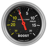 "Auto Meter - 2-5/8"" BOOST/VACUUM, 30 IN HG/20 PSI, MECHANICAL, SPORT-COMP (3401)"