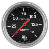 "Auto Meter - 2-5/8"" OIL PRESSURE, 0-150 PSI, MECHANICAL, SPORT-COMP (3423)"