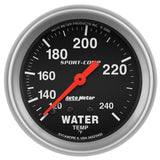 "AutoMeter - 2-5/8"" WATER TEMPERATURE, 120-240 °F, 6 FT., MECHANICAL, SPORT-COMP (3432)"