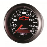 "Auto Meter - 3-3/8"" SPEEDOMETER, 0-160 MPH, ELECTRIC, BOWTIE, GM BLACK (3688-00406)"
