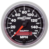 "AutoMeter - 3-3/8"" SPEEDOMETER, 0-160 MPH, ELECTRIC, SPORT-COMP II (3688)"
