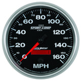 "AutoMeter - 5"" SPEEDOMETER, 0-160 MPH, ELECTRIC, SPORT-COMP II(3689)"