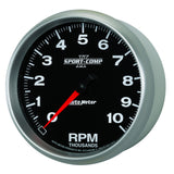 "AutoMeter - 5"" IN-DASH TACHOMETER, 0-10,000 RPM, SPORT-COMP II (3698)"