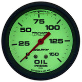 "AutoMeter - 2-5/8"" OIL PRESSURE, 0-150 PSI, MECHANICAL, LIQUID FILLED, ULTRA-NITE (4223)"