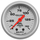 "AutoMeter - 2-1/16"" OIL PRESSURE, 0-150 PSI, MECHANICAL, ULTRA-LITE (4323)"