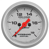 "AutoMeter - 2-1/16"" WIDEBAND AIR/FUEL RATIO, ANALOG, 8:1-18:1 AFR, ULTRA-LITE (4370)"