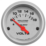 "AutoMeter - 2-1/16"" VOLTMETER, 8-18V, AIR-CORE, ULTRA-LITE (4391)"