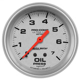 "AutoMeter - 2-5/8"" OIL PRESSURE, 0-7 KG/CM2, MECHANICAL, ULTRA-LITE (4421-J)"