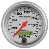 "AutoMeter - 3-3/8"" SPEEDOMETER, 0-200 MPH, ELECTRIC, ULTRA-LITE (4486)"