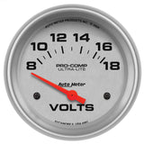 "AutoMeter - 2-5/8"" VOLTMETER, 8-18V, AIR-CORE, ULTRA-LITE (4491)"