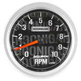 "AutoMeter - 3-3/8"" TACHOMETER, 0-10,000 RPM, IN-DASH, HOONIGAN (4497-09000)"