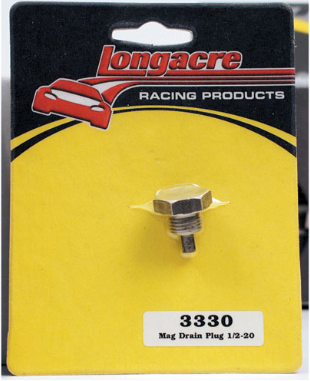 Long Acre - Racing Magnetic Drain Plug Fits Pans w/ 1/2
