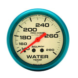 "AutoMeter - 2-5/8"" WATER TEMPERATURE, 140-280 °F, 6 FT., MECHANICAL, ULTRA-NITE (4531)"