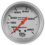"AutoMeter - 2-5/8"" OIL TEMPERATURE, 140-280 °F, MECHANICAL, LIQUID FILLED, ULTRA-LITE (4641)"
