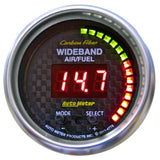 "AutoMeter - 2-1/16"" WIDEBAND PRO AIR/FUEL RATIO, 6:1-20:1 AFR, CARBON FIBER (4778)"