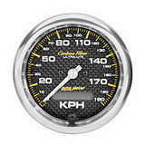 "AutoMeter - 3-3/8"" SPEEDOMETER, 0-190 KM/H, ELECTRIC, CARBON FIBER (4787-M)"