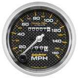 "AutoMeter - 3-3/8"" SPEEDOMETER, 0-160 MPH, MECHANICAL, CARBON FIBER (4793)"