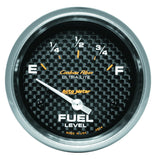 "AutoMeter - 2-5/8"" FUEL LEVEL, 0-90 Ω, AIR-CORE, SSE, CARBON FIBER (4814)"