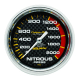 "AutoMeter - 2-5/8"" NITROUS PRESSURE, 0-2000 PSI, MECHANICAL, CARBON FIBER (4828)"